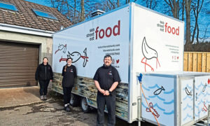 L-R: Ann Marie Ross, Aileen Mackintosh and Jamie Ross, of the Redshank Catering Company.