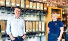 Dougie Vipond of BBC Landward and Butterfly Effect owner Lauren Brook