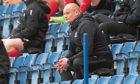 Elgin City manager Gavin Price in the stand at Falkirk Stadium.