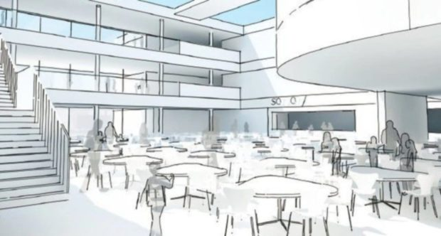 An artist impression of how the new community campus would look.