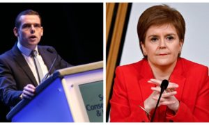 Scottish Conservative leader Douglas Ross and First Minister Nicola Sturgeon.