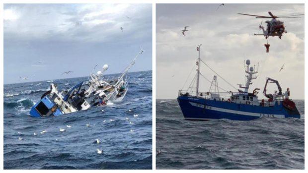 Ocean Quest sinks off the coast near Fraserburgh in 2019.