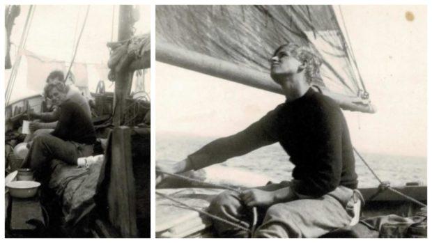 Duke of Edinburgh. on board the boat Diligent.