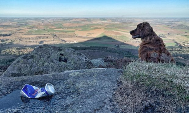 Campaign launched to tackle rubbish left at Bennachie.