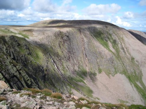 The Braeriach Munro in the Cairngorms National Park. Conservation efforts in the park are being celebrated.