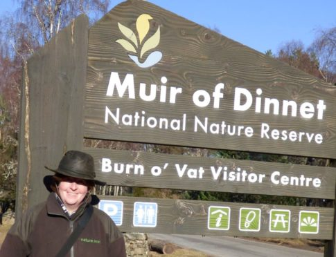 Nature reserve manager Catriona Reid at Muir of Dinnet. Supplied by Dee Catchment Partnership