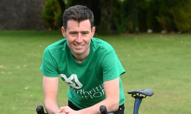 Josh Quigley before setting off on his World Record Breaking cycle attempt