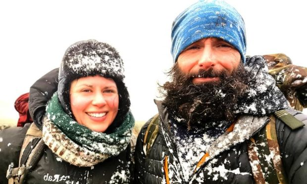Former paratrooper Chris Lewis, alongside girlfriend Kate, has passed through Aberdeen and is en route south, after the charity walker was stranded in the north-east during lockdown.