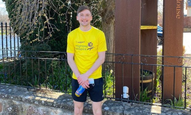 Connor Goldbek completes seven marathons in seven days to raise money for Highland Hospice.