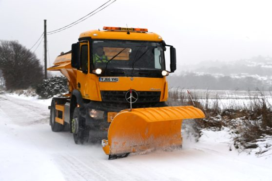 Gritters will be out in force tonight in Aberdeen