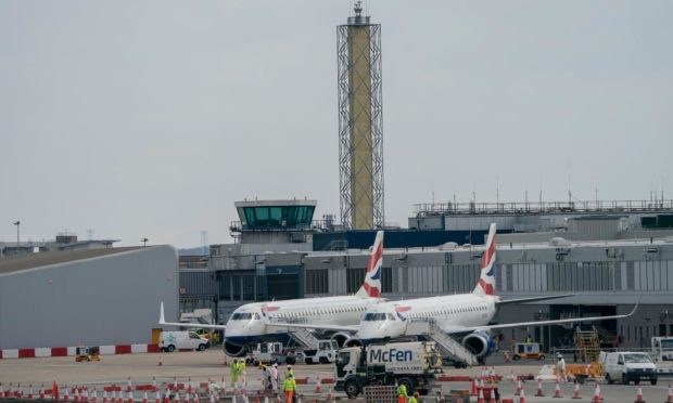 The new digital control tower at London City Airport.
