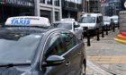 The Flourmill Lane taxi rank in Aberdeen