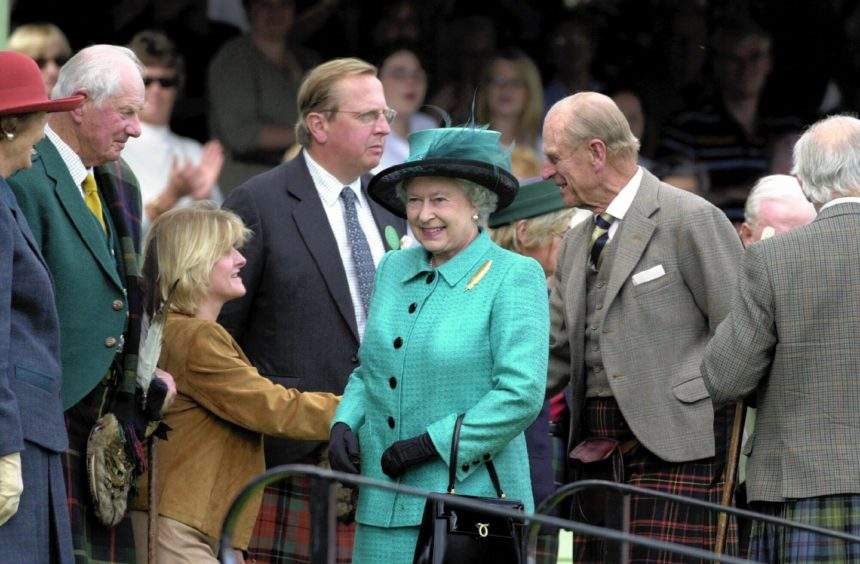 Braemar Highland Games. Queen and Prince Philip.pics Nick Anderson 4.9.04
