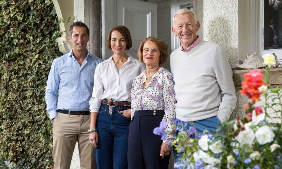 The Graham Family - Robert Graham Junior, Jean Graham, Carol Graham and Dr Robert Graham Senior.