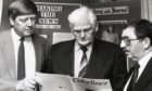 Former production editor at Aberdeen Journals, Frank Benzie (far right) has died aged 79