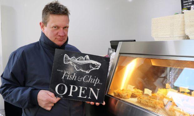 John Stewart of George Street Fish Restaurant and Chip Shop.