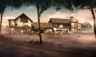 Artist's impression of a £30 million, 5-star hotel planned for Inchmarlo near Banchory called 'The Lucullan'.