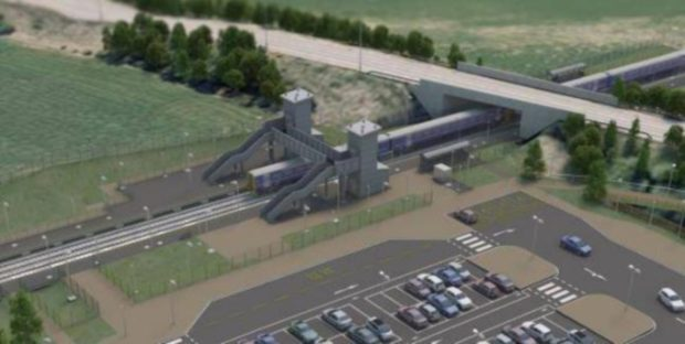 Dalcross Station at Inverness Airport. Inverness Airport. Supplied by Network Rail