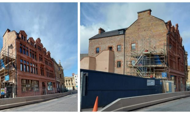 Construction works at Inverness Town House are nearing completion.