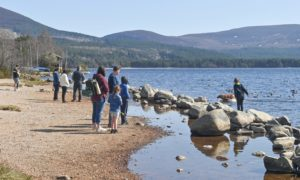 Loch Morlich starts to look more busy as rules are relaxed around travelling in Scotland.