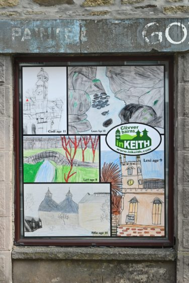 Keith's love of Doric as Scotland's only Scots toun has been celebrated with the town centre display.