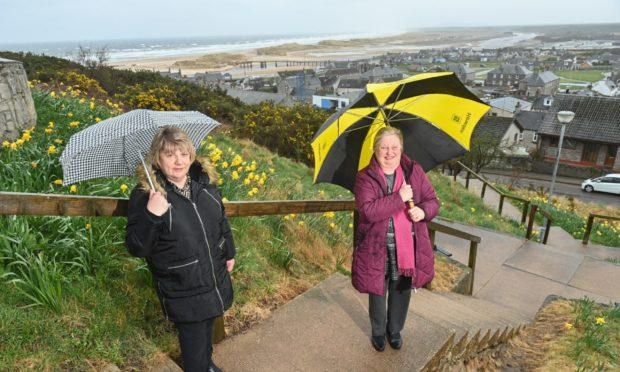 Lossiemouth Community Development Trust's vice-chairwoman Donna Milne and development officer Fiona Birse.