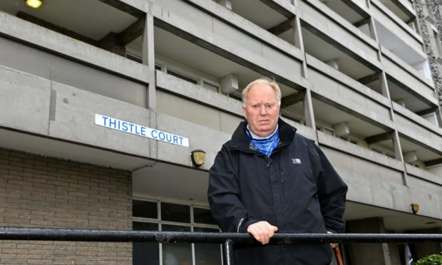 """Councillor Bill Cormie said it was """"brilliant news"""" that Royal Mail was to begin delivering to Thistle Court again."""