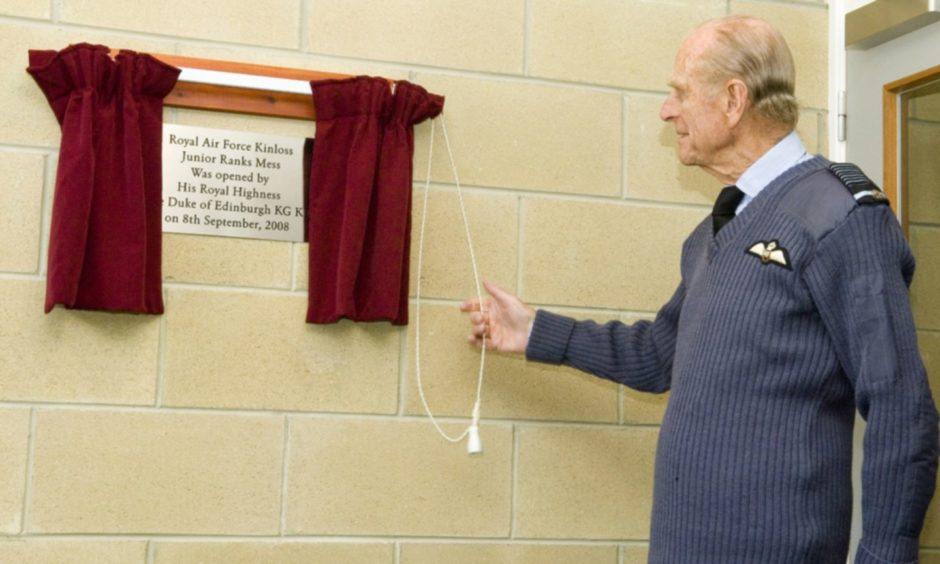 Prince Philip opened the new junior ranks mess at RAF Kinloss in 2008.