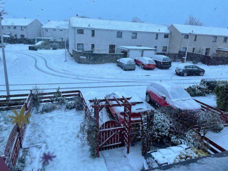 Snow has fallen around parts of the north and north-east, however, roads remain passable