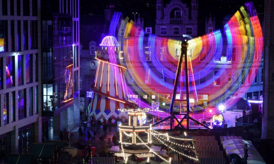 The Aberdeen Christmas Village in Broad Street, organised by bid operator Aberdeen Inspired