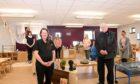 MACBI community manager Connie Strachan and Councillor Norman Smith with nursery staff Gillian Merchant, Sarah Adams, Angie Urquhart and Ashton McCouaig