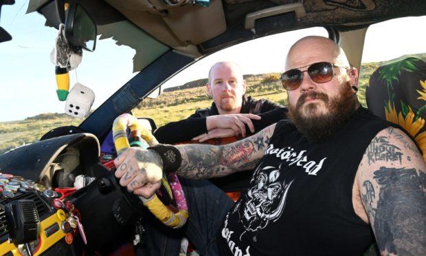 Scott Reid and Charlie Munro, organisers of  the Aberdeen Band Weekender.
