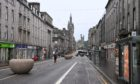 Union Street, at the heart of the Bid in Aberdeen, during increased Covid restrictions in February