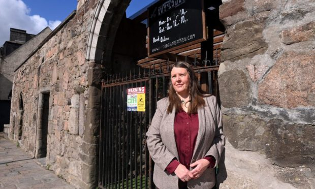 Councillor Sandra Macdonald is one of dozens to object to any change made to the wall outside the Ivy Lodge in Shiprow