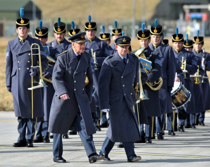 Prince Philip attended the presentation of 201 Sqn standards at RAF Kinloss in 2010.