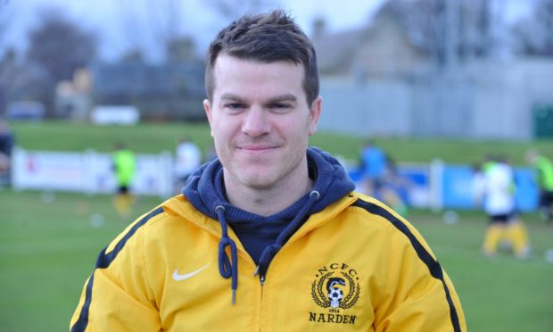 Conor Gethins during his first stint with Nairn County