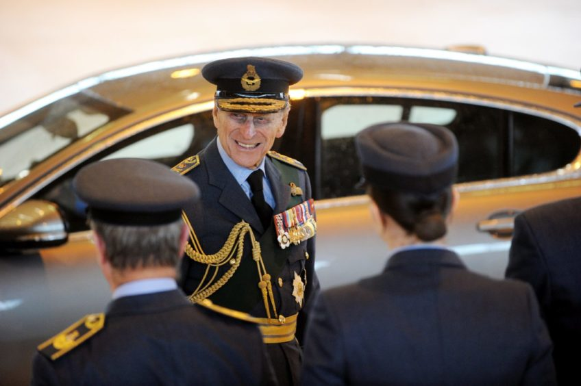 Prince Philip at the RAF Kinloss disbandment, 2011 Picture by Gordon Lennox