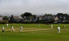 Aberdeenshire in action against Forfarshire at Mannofield.