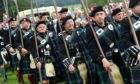 Picture of the March of the Lonach Highlanders and Massed Pipe Bands.  Picture by KENNY ELRICK     24/08/2019