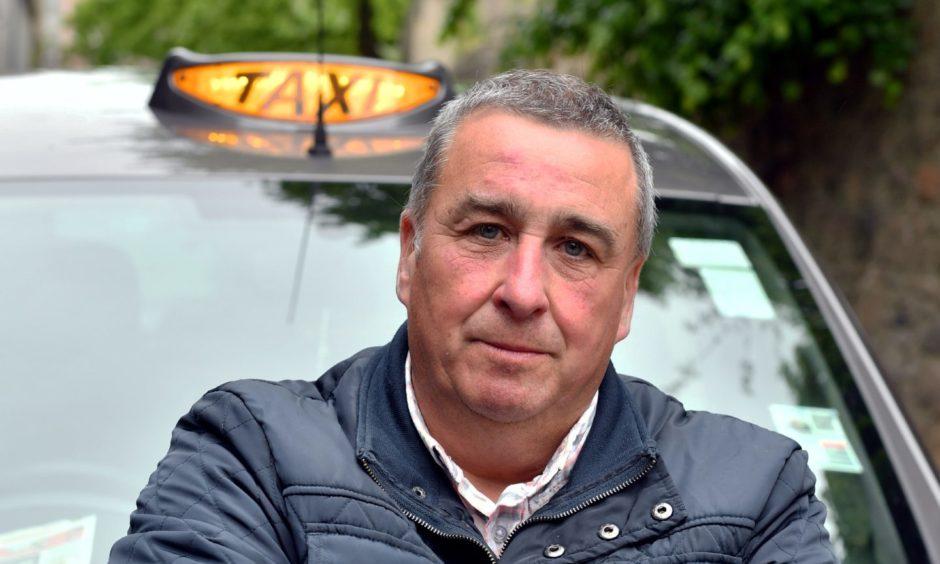 Derek Davidson welcomed the extra cash for Aberdeen taxi drivers