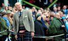 The Duke of Edinburgh at the  Braemar Gathering in 2014.