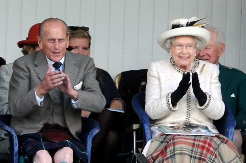 Prince Philip and the Queen at the Braemar Highland Games 2014