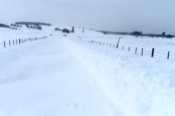 A snowy Highland road