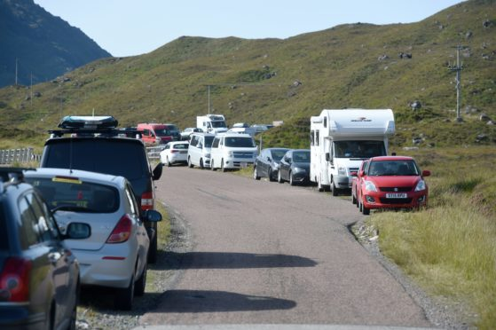 Among other duties, the access rangers will tackle poor parking, like this in Glen Torridon.