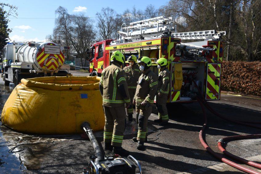 Firefighters on-scene