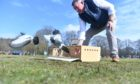 Aberdeen's pigeon racing club liberated 10 pigeons in commemoration of Prince Philip