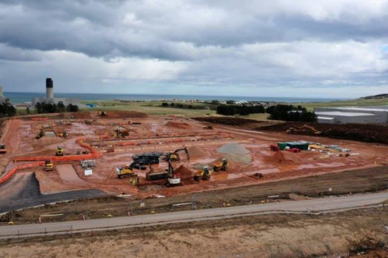 Construction work is well underway at Peterhead power station.