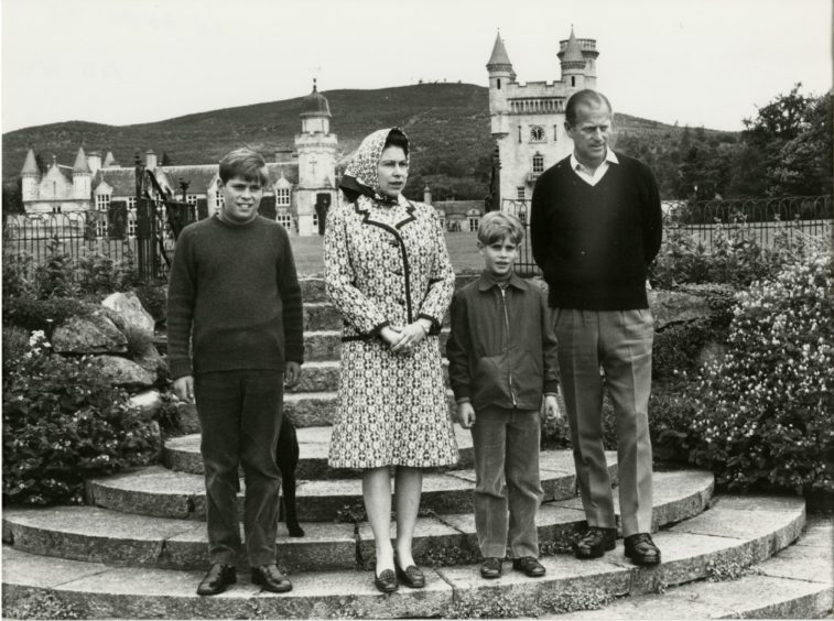 The Royal Family at Balmoral where the Queen and Prince Philip celebrated their silver wedding in 1972