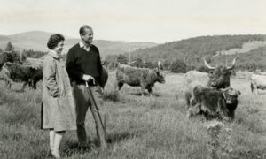 The Queen and the Duke of Edinburgh celebrate their Silver Wedding with a quiet moment at Balmoral in 1972.