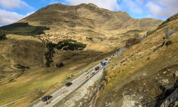 The Rest and Be Thankful has reopened on a trial basis following landslips and mitigation works